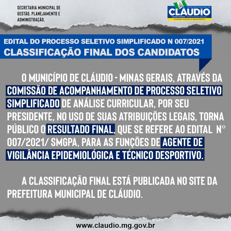 Noticia resultado-final-do-processo-seletivo-simplificado-n-0072021smgpa