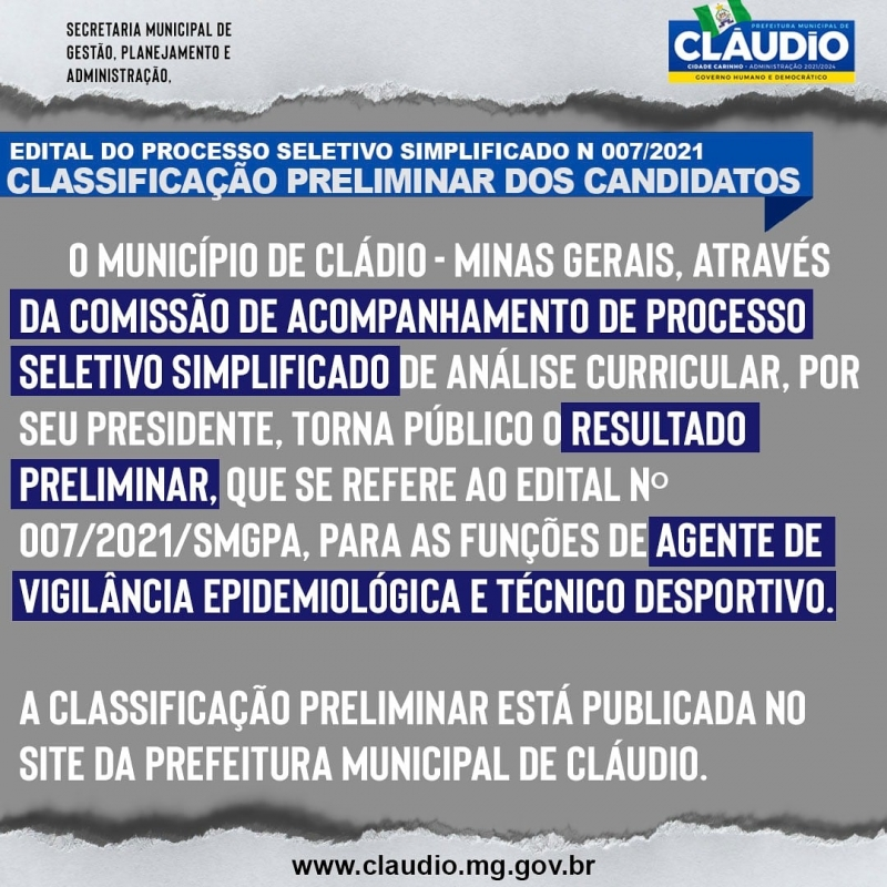 Noticia edital-do-processo-seletivo-simplificado-n-0072021smgpa--classificacao-preliminar-dos