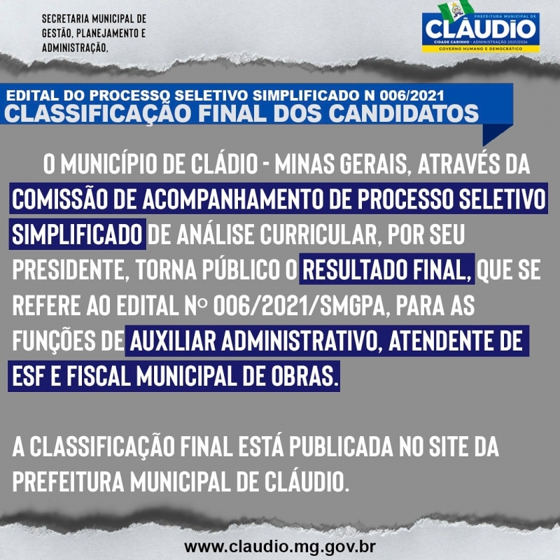 Noticia processo-seletivo-simplificado-n-0062021smgpa--classificacao-final-dos-candidatos