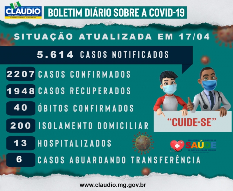 Noticia boletim-diario-sobre-a-covid-19-em-claudio-mg